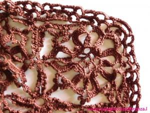 Gilet a moduli marrone cioccolato