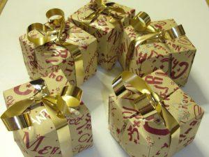 Origami – Scatolette natalizie