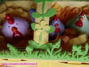 Cassettina gialla con galline