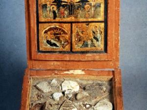 Scatola collezione pietre della Terra Santa