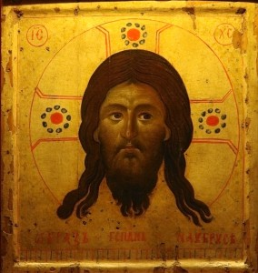 Icona del Santo Volto (Mandylion), acquistata nel 1249 a Bari (Italia) da Jacques Pantaléon, arcidiacono della cattedrale di Laon che in seguito divenne Papa Urbano IV. Si trova nella cattedrale di Laon, Francia. http://it.wikipedia.org/wiki/File:Ic%C3%B4ne_Sainte_Face_Laon_150808.jpg