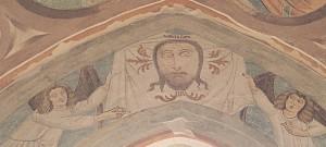 Affresco, XV secolo. Chiesa San Pietro di Chiazzacco, Prepotto, Udine. Immagine: http://www.dom.it/volto-santo-grotta-antro/ Info sulla chiesa: http://www.lesentinelledellevalli.it/dove.html