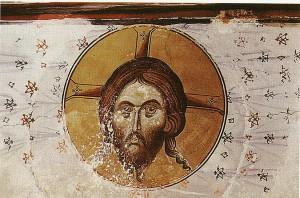 Santo Mandylion (Napkin) Affresco, XIV secolo, Georgia. http://malwaretips.com/threads/shroud-of-turin-latest-news-and-pictures.7030/page-4