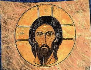 Il Santo Keramion Affresco, 1140ca. Cattedrale della Trasfigurazione, Monastero Mirozhsky a Pskov, Russia. Immagine: http://malwaretips.com/threads/shroud-of-turin-latest-news-and-pictures.7030/page-4 Info cattedrale: http://it.rbth.com/articles/2012/03/09/unopera_darte_del_medioevo_14810.html